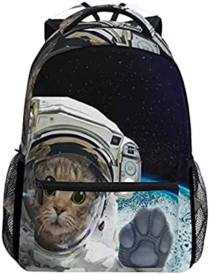 Laptop Backpack Lightweight Waterproof Travel Backpack Double Zipper Design with Rainy Day And Kitty School Bag Laptop Bookbag Daypack for Women Kids