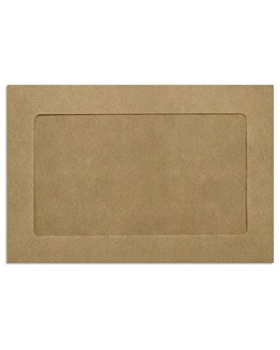 6 x 9 Full Face Window Envelopes - Grocery Bag (50 Qty) | Perfect for mailing Documents, Catalogs, Direct Mail, Promotional Material, Brochures and More| FFW-69-GB-50