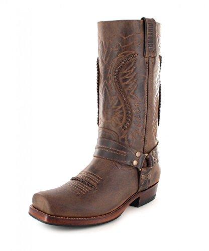 Boots Unisex Adult Biker Brown Boots Sadale MB002 Mayura 56qCXwn