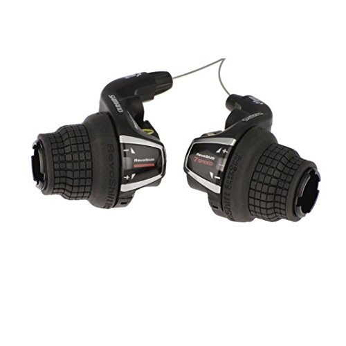 Shimano RevoShift SL-RS35 Friction 3x7 Speed Shift Lever Set Right/Left 21 Speed Twist Shifter - Manual Shift Levers