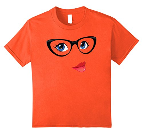 Cute Nerdy Girl Costumes Ideas (Kids Emoji Nerd Shirt Yellow Face Geek Costume Glasses Gift 8 Orange)