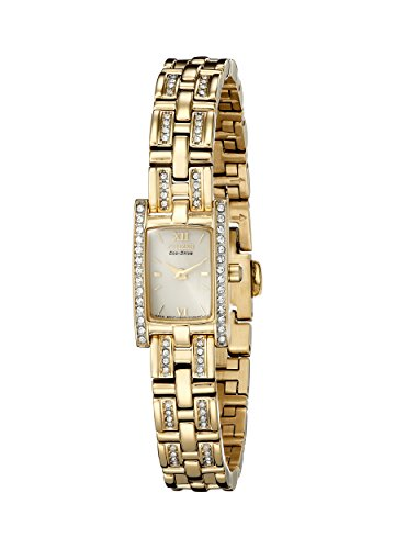 Citizen Women's Eco-Drive Stainelss Steel Crystal Accented Watch, EG2352-52P Citizen Ladies Crystal