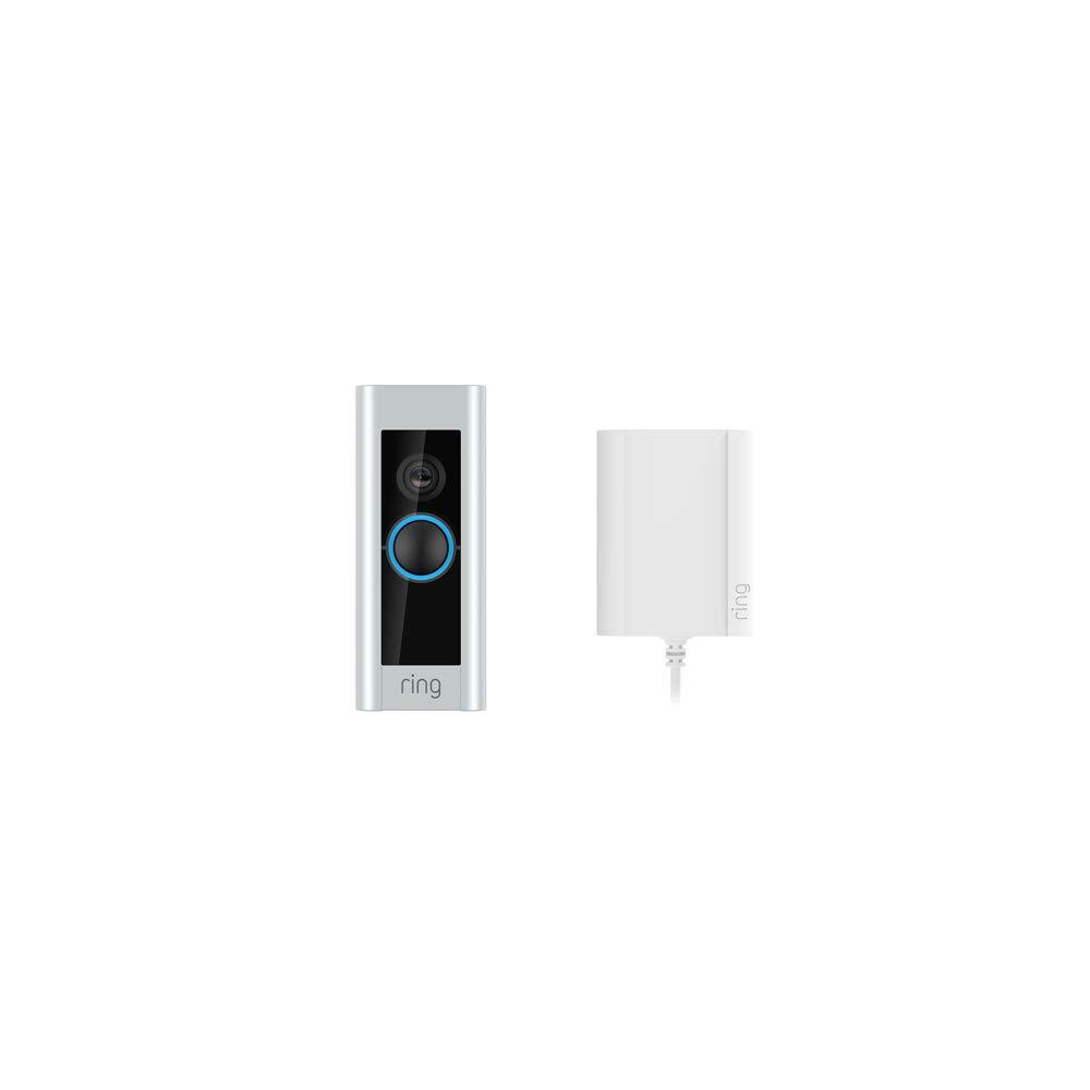 Ring Video Doorbell Pro avec adaptateur secteur, vidéo HD 1080p, système audio...