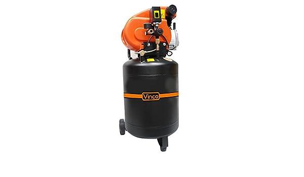 60611 Compresor vertical 50 LT Vinco doble manómetro 8 bar monofásico 195 l / m: Amazon.es: Bricolaje y herramientas