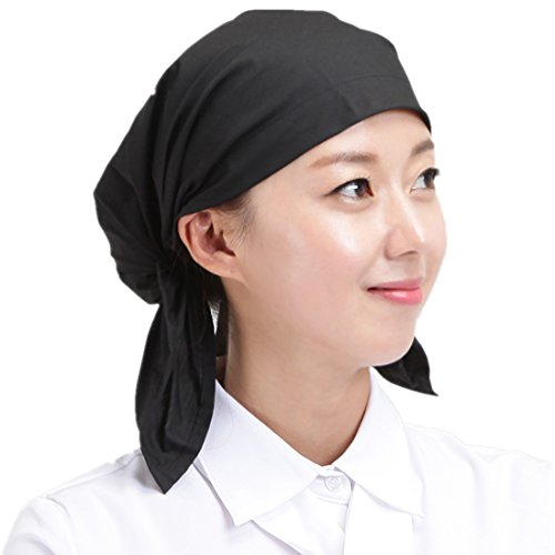 Adjustable black sushi japanese kitchen restaurant waiter chef hat cook cap for men and women