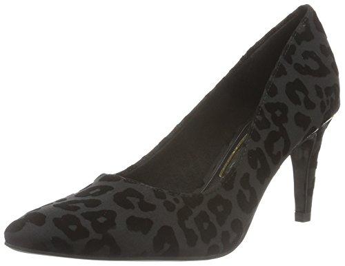 Tamaris 22457, Zapatos de Tacón para Mujer Negro (BLACK STRUCT. 006)