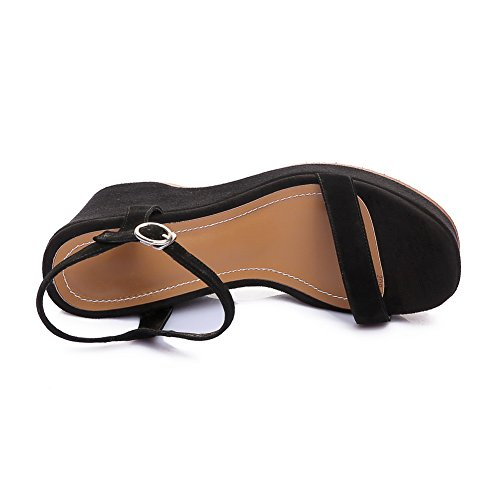 Style Black MJS03176 Womens Cold Solid Lining 1TO9 Sandals Urethane Baguette FfXgqBUp