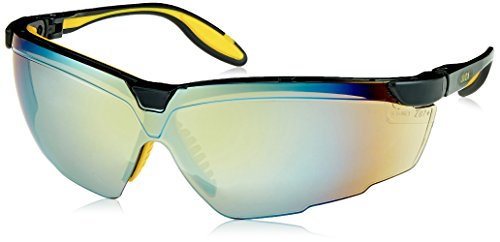 (Uvex S3523 Genesis X2 Safety Eyewear, Black and Yellow Frame, Gold Mirror Ultra-Dura Hardcoat Lens)