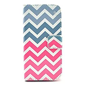 ZL Pink Wave Pattern PU Leather Full Body Case with Card Slot for Samsung Galaxy S5 I9600