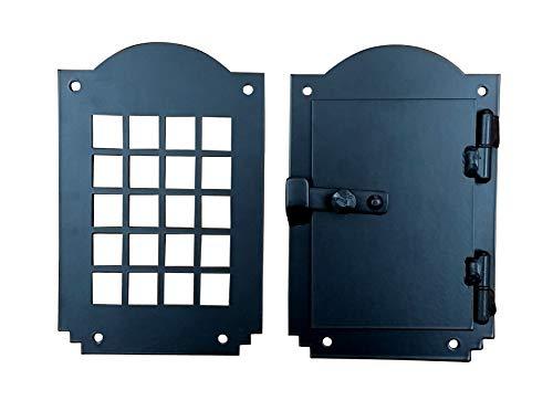 - Iron Door Speakeasy Grille, Door Viewer, Rustic hardware, Arched Style