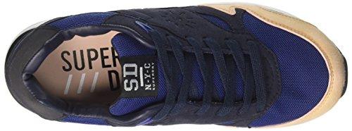 Superdry May Runner, Zapatillas de Gimnasia para Mujer Azul (Eclipse Navy/nude Pink)