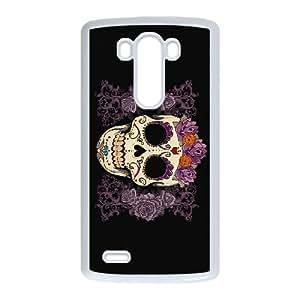 LG G3 Cell Phone Case White Sugar Skull Cover 009 HIV6755169569946