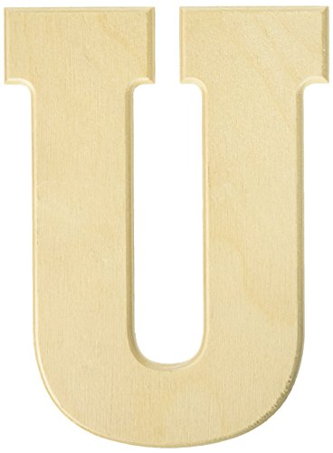 MPI Baltic Birch University Font Letters and Numbers, 5-Inch, Letter-U (Wood Letters 5 Craft Inch)