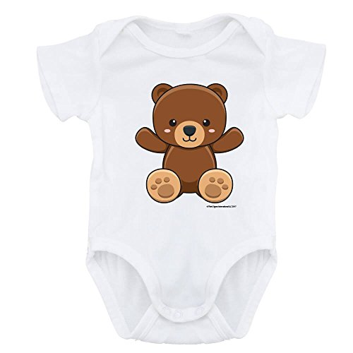 ForBabyz Funny Baby Bodysuit Romper Teddy Bear, Unisex Boy Girl, -
