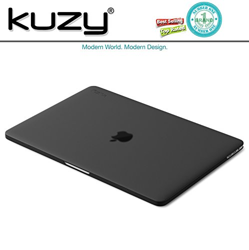 MacBook Pro 13 inch Case 2018 2017 2016 Release A1989 A1706 A1708, Kuzy Plastic Hard Shell Cover for Newest 13 inch MacBook Pro Case with Touch Bar Soft Touch - Black by Kuzy (Image #7)