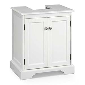 Bathroom Pedestal Sink Storage Cabinet White