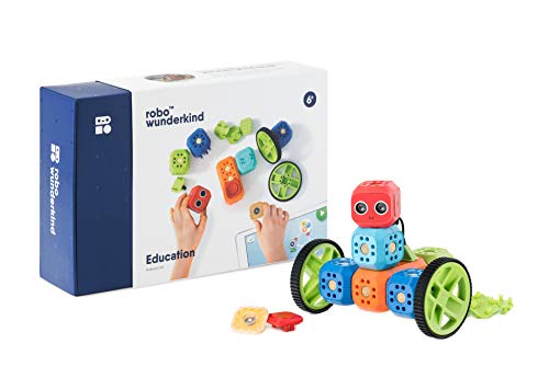 Robo Wunderkind - Modular Robotics Set - Education Kit - 8 Blocks and 15 Parts - Programmable STEM Toy - 2 Free Apps with Projects Library