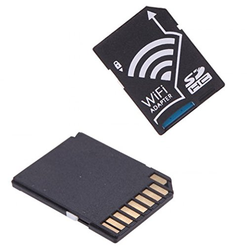 WIFI Adapter Wireless Memory Card TF to SD SDHC SDXC Card Kit for iPhone Android ICT