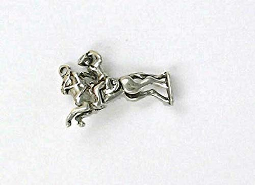 - Pendant Jewelry Making/Chain Pendant/Bracelet Pendant Sterling Silver 3-D Movable Bronco Rider Charm