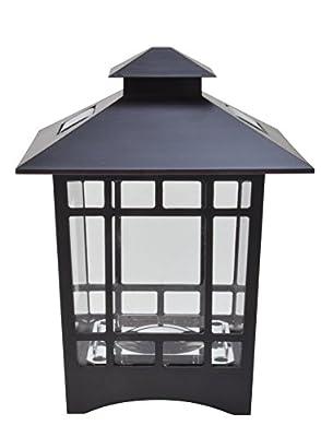 Moonrays 91197 Solar Powered LED Birkdale Brown Postcap, White