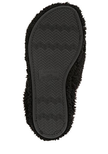 Dearfoams Fluffy Women's Black Terry Clog rr1xAw
