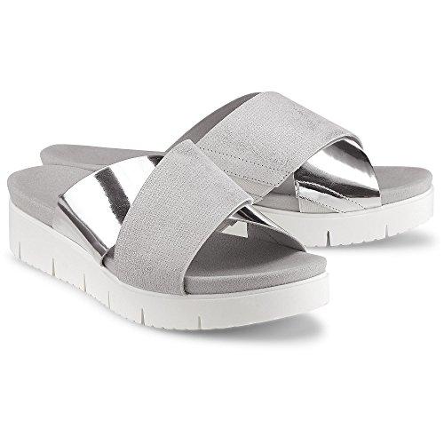 Gabor Ladies Comfort Sport Sandali Con Il Cinturino In Argento