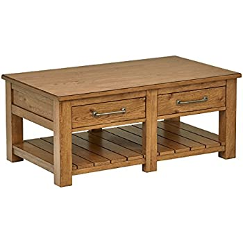 Amazon Com Lift Top Coffee Table Oak With Storage Drawers