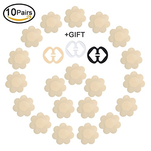 Daisyformals 10 Pairs Pasties Satin Nipple Cover Stickers Disposable Breast Pasties Flower - Friendly Center At Shops