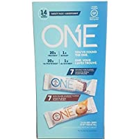 OhYeah! ONE Protein Bar Variety Pack, Birthday Cake + Maple Glazed Doughnut Flavours - 14 Count x 60 g