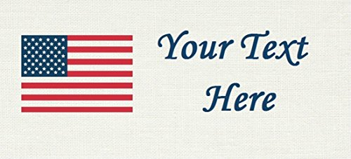 USA American Flag– Cotton Fabric Labels for Handmade Items/Customized Garment Clothing Size Fabric Labels/Personalized Printed Fabric Sew Tag Labels/Quilt, Crochet, Knit, Sewing - Made in USA by Yarn Hookers