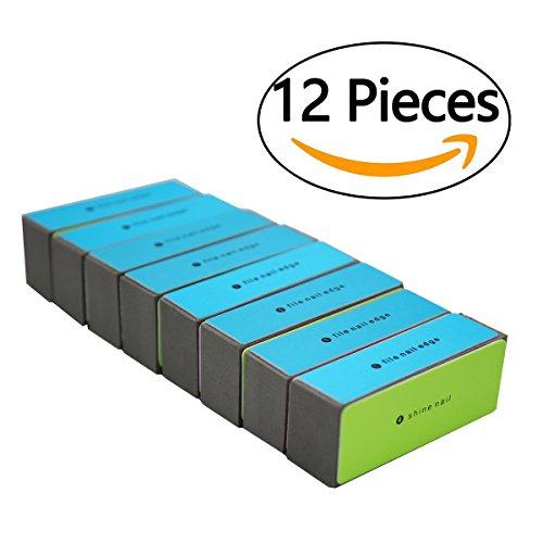 Block Buffer Nail (Rotus 4 Way Shiny Block/ 4 Step Buffing Block Shine Nail Buffer - 12 pieces Salon Quality Nail Buffers)