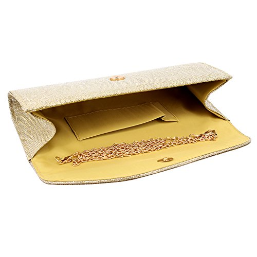 Clutch Envelop Rhinestone Mesh Gold Bag for Wedding Prom Purse Gabrine Evening Fabrics Party Shiny Womens Handbag Studded wfE8HvXq