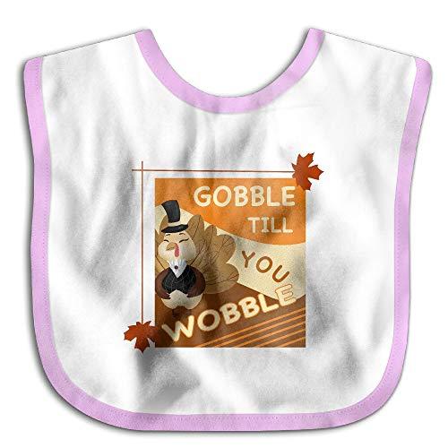 g Turkey Party Gobble You Wobble Waterproof Bib The Baby Bib cute lovely Baby skin wrap ()