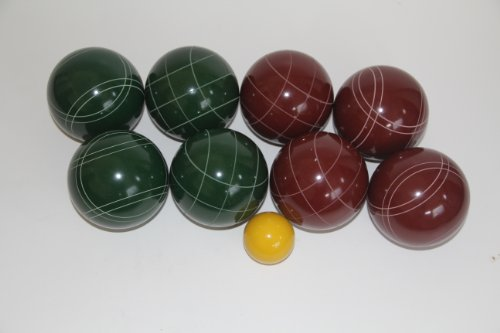 Premium Quality EPCO Tournament Set - 110mm Red and Green Bocce Balls - NO BAG OPTION [Toy] by Epco