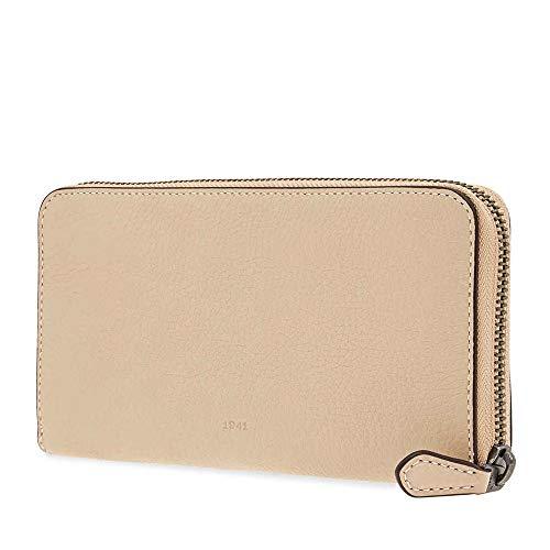 Coach Ladies Zip Around Wallet 1941 Cream Co Glvt Ppl Acc Zip (Wallets Cream Coach)