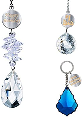 Amazon.com  CrystalPlace Happy Birthday Dad Gifts 3 Set Made with Swarovski  Crystals f7a466d3ae