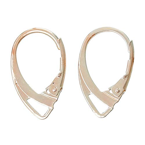 Laliva Zinc Metal Alloy Earring Components Clips Earring Findings Rose Golden 18mm(6/8