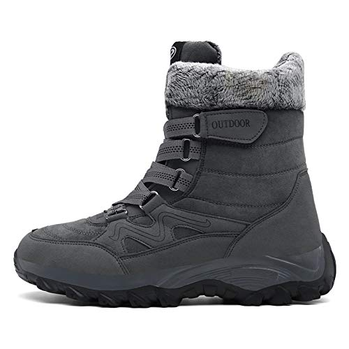 MENGOU Womens Outdoor Snow Hiking Booties Winter Anti-Slip Wide Width Outdoor Military Boots Warm Insulated Camping Boots