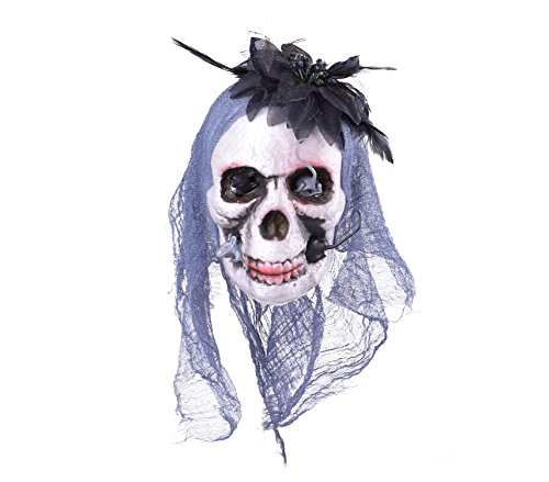 [Skull Halloween Decorations Decorated Skulls with Purple Lace and Black Flower] (Cheap Homemade Alien Costumes)