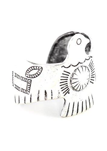 Magic Metal Thunderbird Bangle Arm Wrap Bracelet Silver Tone BD27 Native American Tribal Bird Fashion Jewelry