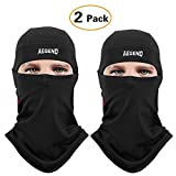 Aegend 2 Pack Balaclava Windproof Ski Face Mask Winter Motorcycle Neck Warmer Tactical Balaclava Hood Polyester Fleece for Women Men Youth Snowboard Cycling Outdoors Helmet Liner Mask, 2 Pack