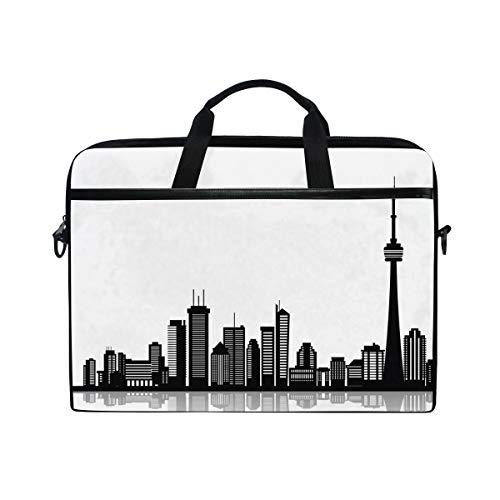 Toronto Tote - Canadian Toronto Black White Laptop Tablet Bag Tote Briefcase Computer Case Handbag Men Women Pounch