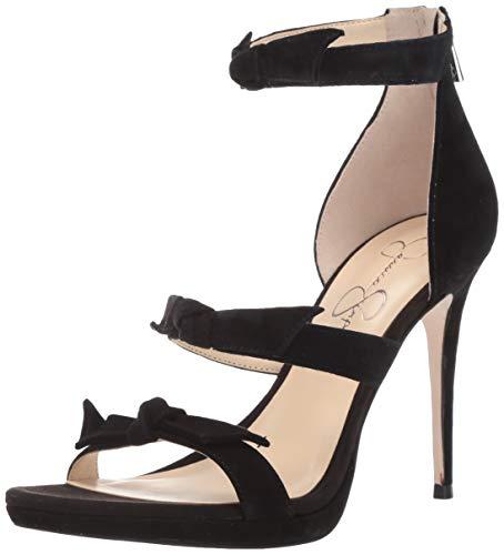 Jessica Simpson Women's Kaycie Heeled Sandal,Black,7 M US (Leather Jessica Platforms)