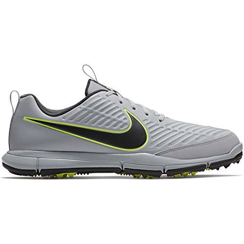 NIKE Men's Explorer 2 Golf Shoes (Wolf Gray/Anthracite/Volt, 12)