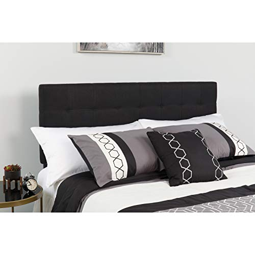 Flash Furniture Bedford Tufted Upholstered Queen Size Headboard in Black Fabric -,