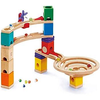 Amazon Com Hape Quadrilla Wooden Marble Run Construction