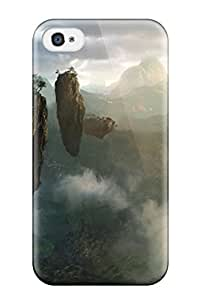 Awesome Floating Islands Flip Case With Fashion Design For Iphone 4/4s 7413855K65485969