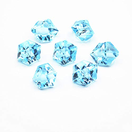 Briliant Shop 14x11 mm Acrylic Color Faux Ice Rock Crystals Treasure Gems for Table Scatters, Vase Fillers, Fish Tank, Party Decoration, Arts & Crafts (Aqua Blue)