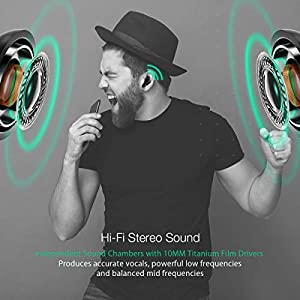 Wireless Earbuds, BlitzWolf Bluetooth 5.0 TWS True Wireless Bluetooth Earbuds 12H Play time 3D Stereo Sound Wireless Headphones, Built-in Microphone Portable Charging Case by BlitzWolf