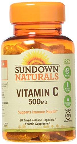 Sundown Vitamin C 500 mg Capsules Time Release 90 Capsules ( Pack of 3)